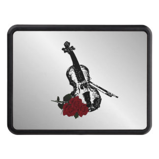 Violin and Roses Silver Trailer Hitch Cover