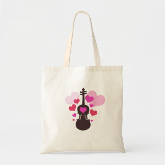 Violin Art with Heart Tote Bag