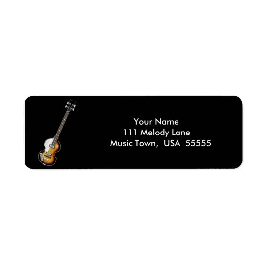 Violin Bass Guitar Address Label