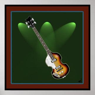 Violin Bass Poster