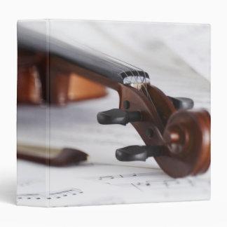 Violin Bow Vinyl Binders