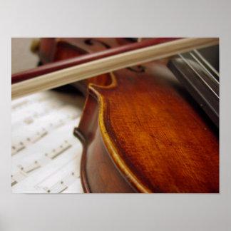 Violin Bow & Sheet Music Photo Poster