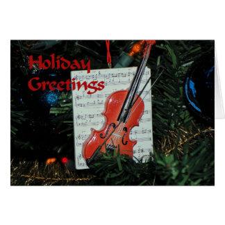 Violin Christmas Card