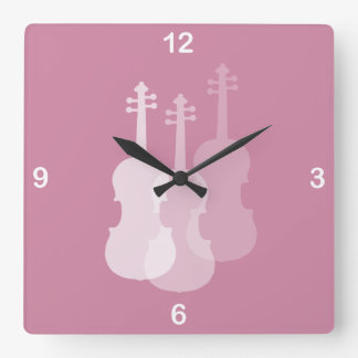 Violin Color to Match the Room Square Wall Clock