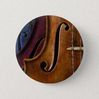 Violin Composition 2 Inch Round Button