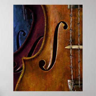 Violin Composition print