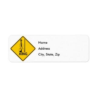 Violin Crossing Highway Sign