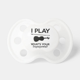 violin designs pacifiers