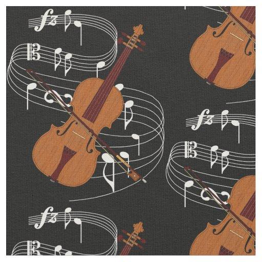 Violin Fabric- Dark Fabric