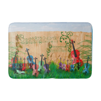 Violin Garden Bathroom Mat