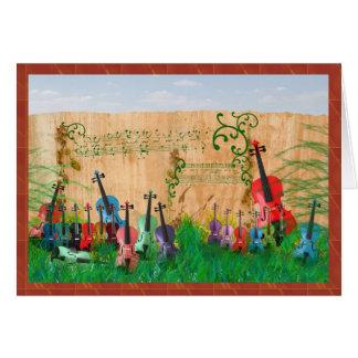 Violin Garden Card