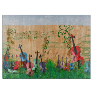 Violin Garden Cutting Board