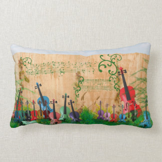 Violin Garden Lumbar Pillow