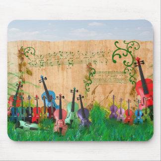 Violin Garden Mouse Pad