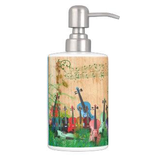 Violin Garden Soap Dispenser