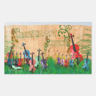 Violin Garden Sticker