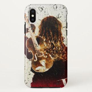 Violin Girl Dark Red Dress Golden Brown Hair Music Case-Mate iPhone Case