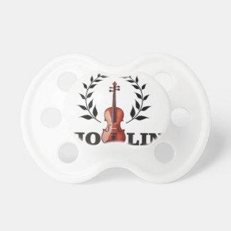 violin goal crown pacifier