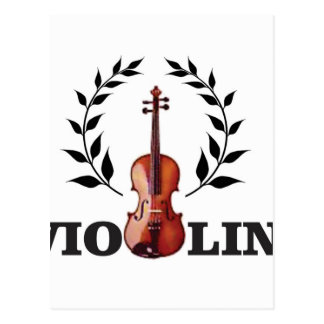 violin goal crown postcard