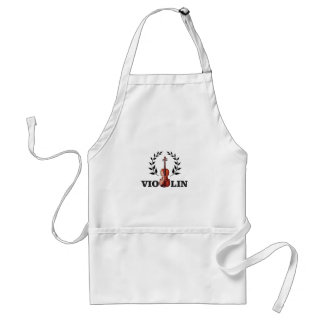 violin goal crown standard apron