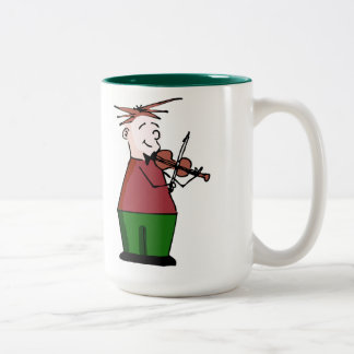 Violin Guy Christmas Mug