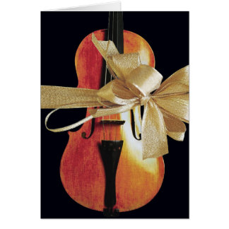 Violin Holiday Card