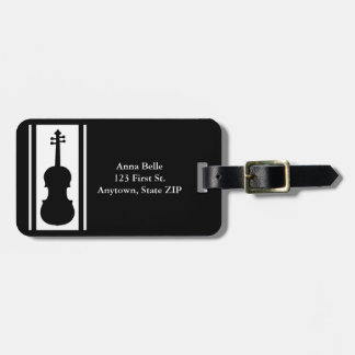 Violin in Black and White ID Luggage Tag