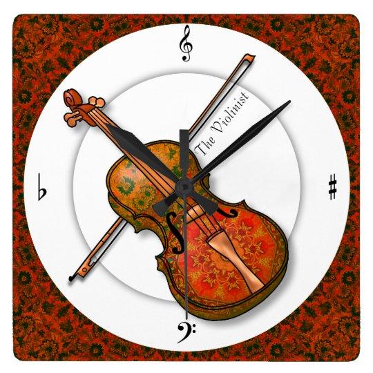 Violin in Formal Dress Wallclock