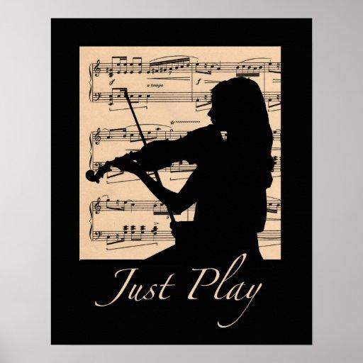 Violin... Just Play 16x20 poster