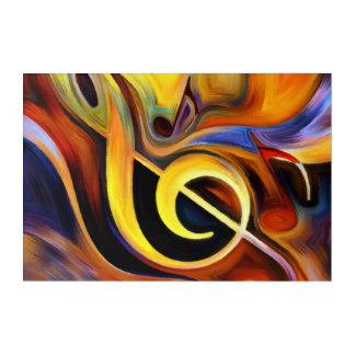 Violin key acrylic wall art