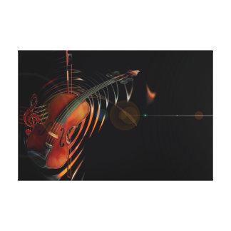 Violin-key Canvas Print