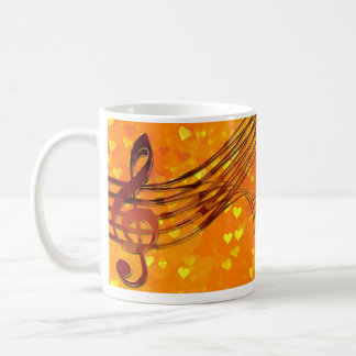 Violin key coffee mug
