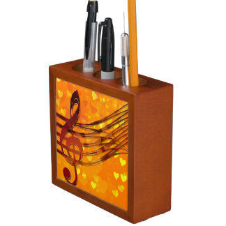Violin key desk organizer