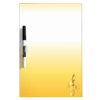 Violin key dry erase board