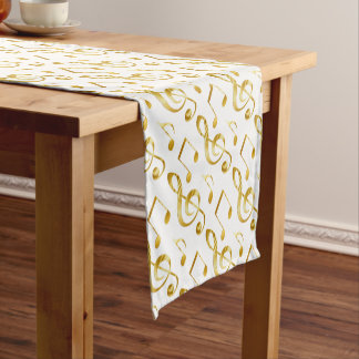 Violin key elegant short table runner