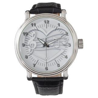 Violin key elegant wristwatches