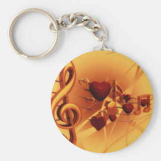 Violin key keychain