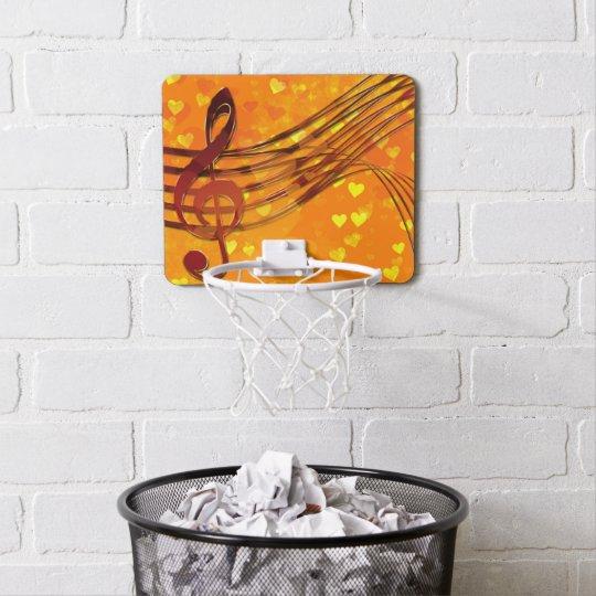 Violin key mini basketball hoop