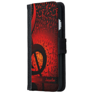 Violin Key Music G-Clef Note iPhone 6 Wallet Case