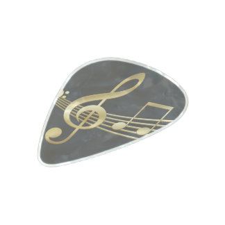 Violin key pearl celluloid guitar pick