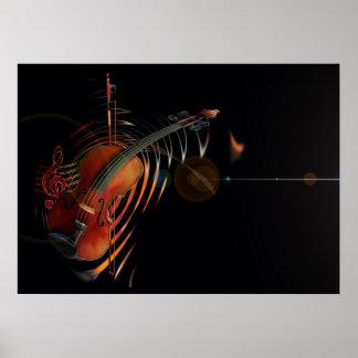 Violin-key Poster