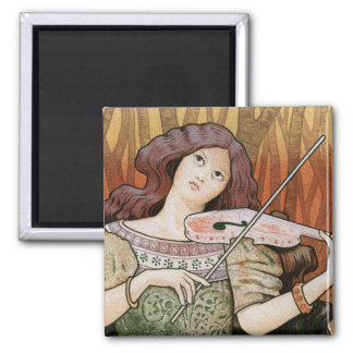 Violin Lessons [Lecons de Violon] by Paul Berthon Magnet