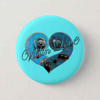 violin love 2 inch round button