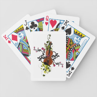 Violin Love Bicycle Playing Cards