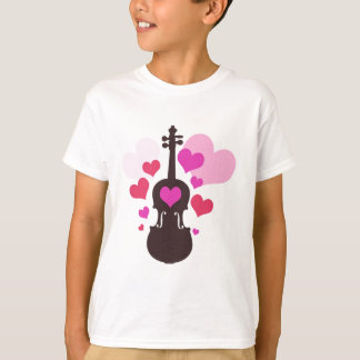 Violin Love Girls T-Shirt