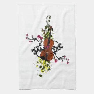 Violin Love Kitchen Towel