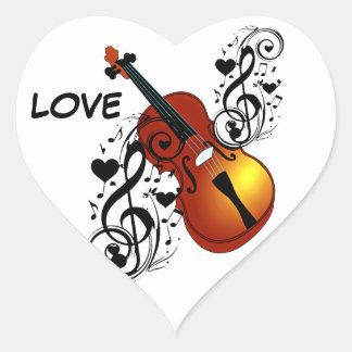 Violin,Lover at Heart_ Heart Sticker