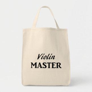 Violin Master Grocery Tote Bag