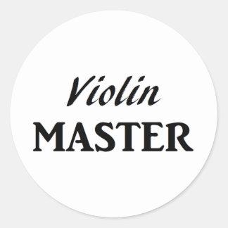 Violin Master Round Sticker