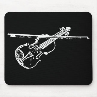 Violin Mouse Pad - Distorted/Eroded - B/W